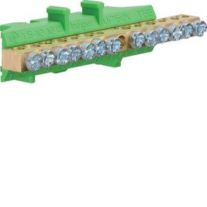 Клеммник Hager KM13E, 6x16+7x10 мм2