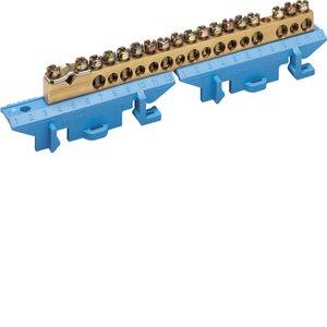 Клеммник Hager KM17N, 1x25+8x16+8x10 мм2