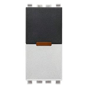 ИК приемник с реле Vimar Eikon IR, 1 мод., 1NO, 6А/120В, серебро матовое