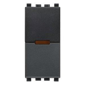 ИК приемник с реле Vimar Eikon IR, 1 мод., 1NO, 6А/250В, серый