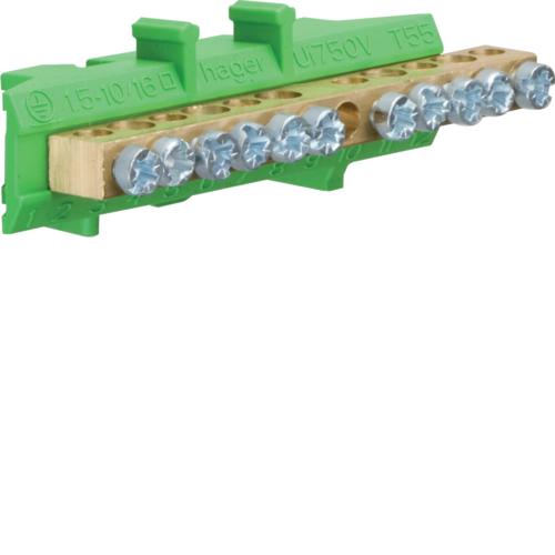 Клеммник Hager KM11E, 5x16+6x10 мм2