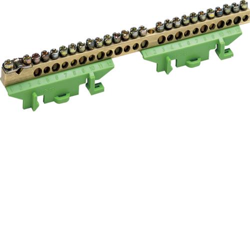 Клеммник Hager KM25E, 1x25+11x16+13x10 мм2