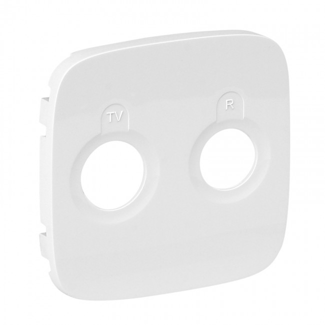 Накладка розетки Valena Allure TV-R, белый
