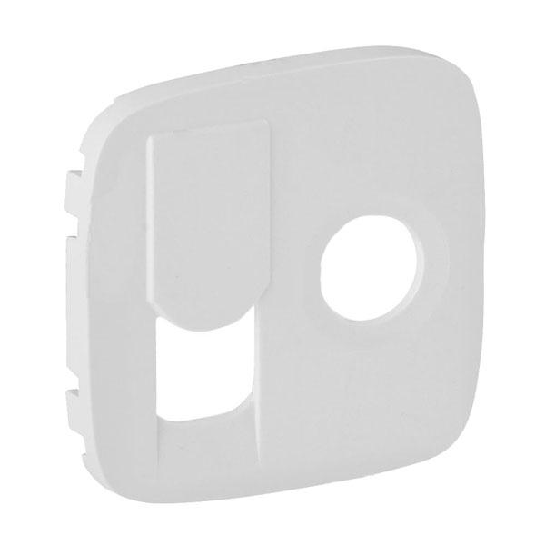 Накладка розетки Valena Allure TV+RJ45, белый