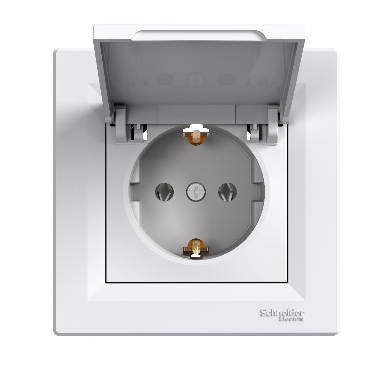 6a5157a98 Купить розетка Schneider Electric Asfora с з/к, шторки, крышка ...
