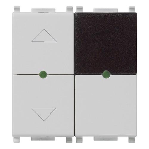ИК приемник с реле Vimar Plana IR, 2 мод., 1CO, для жалюзи, 4А/250В, серебро матовое