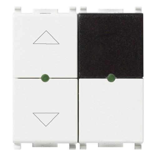 ИК приемник с реле Vimar Plana IR, 2 мод., 1CO, для жалюзи, 4А/250В, белый